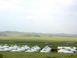Yurts on the Grassland