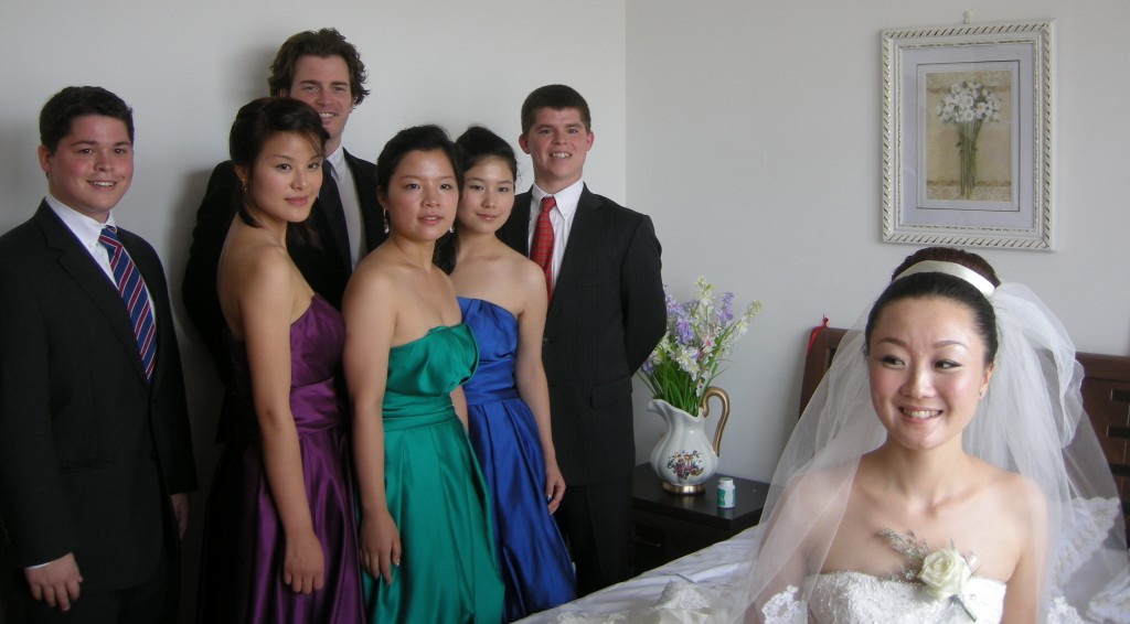 Jiao Jiao and the Bridal party