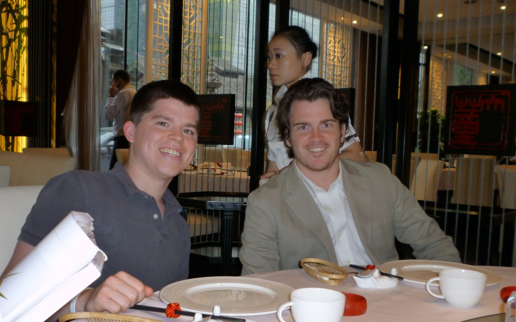 Peter and Tom at the restaurant the first night in Beijing