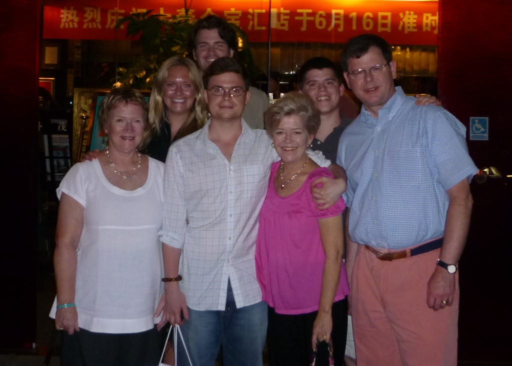 Group picture at the Beijing restuarant
