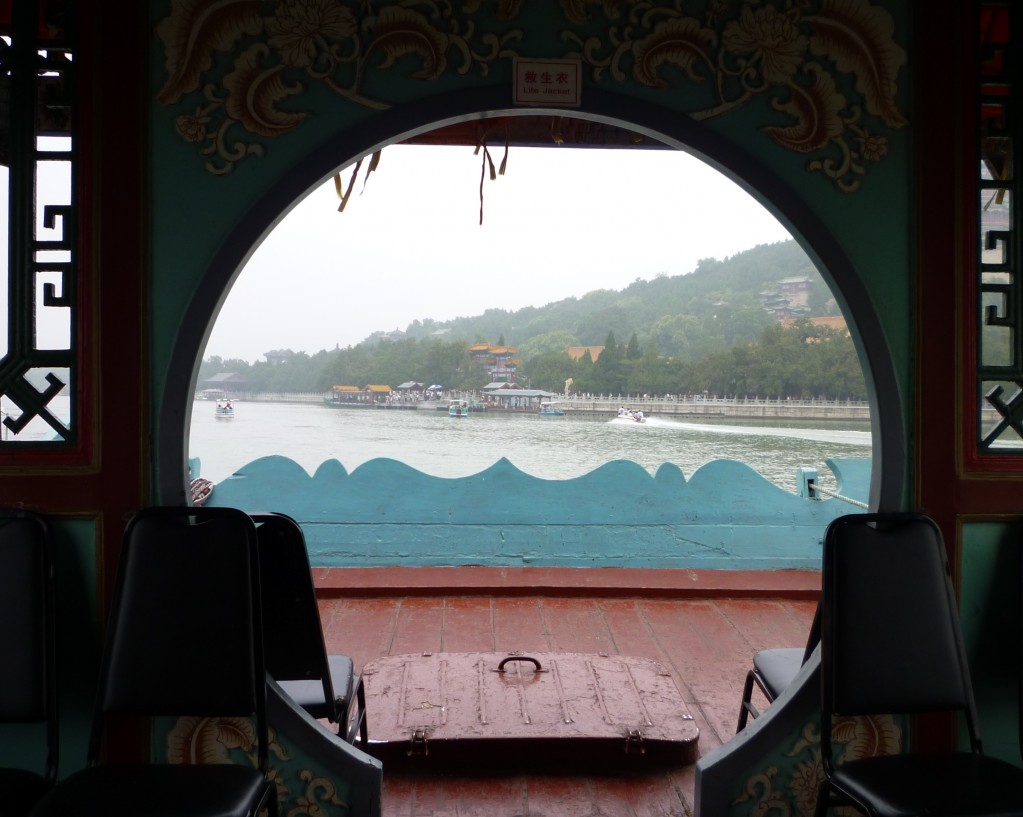 View from a boat in the Summer Palace