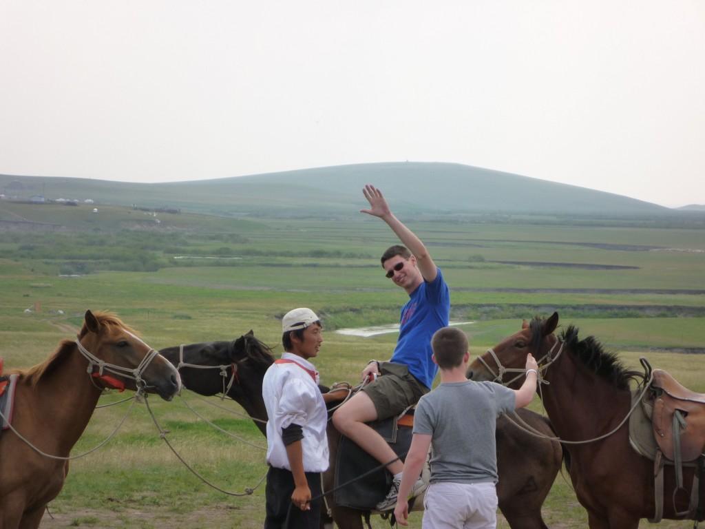 Adam on a horse