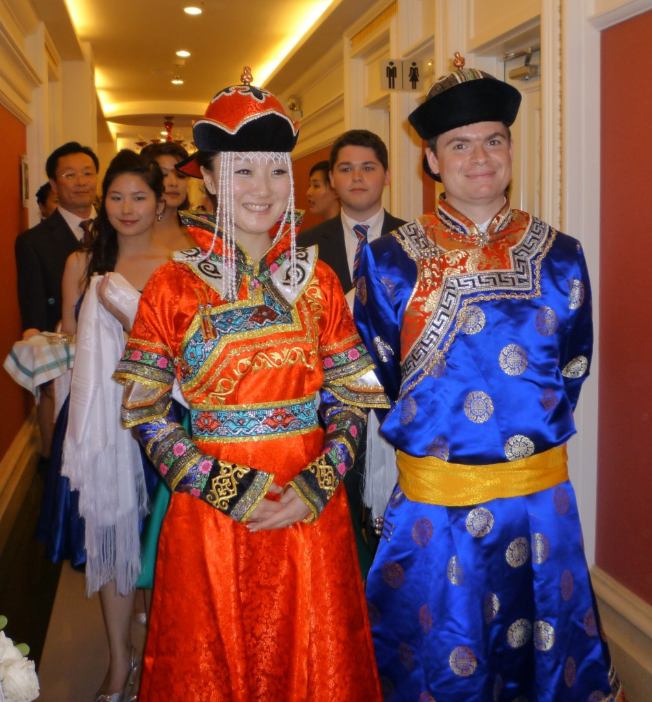 The Mongolian wedding is ready to begin