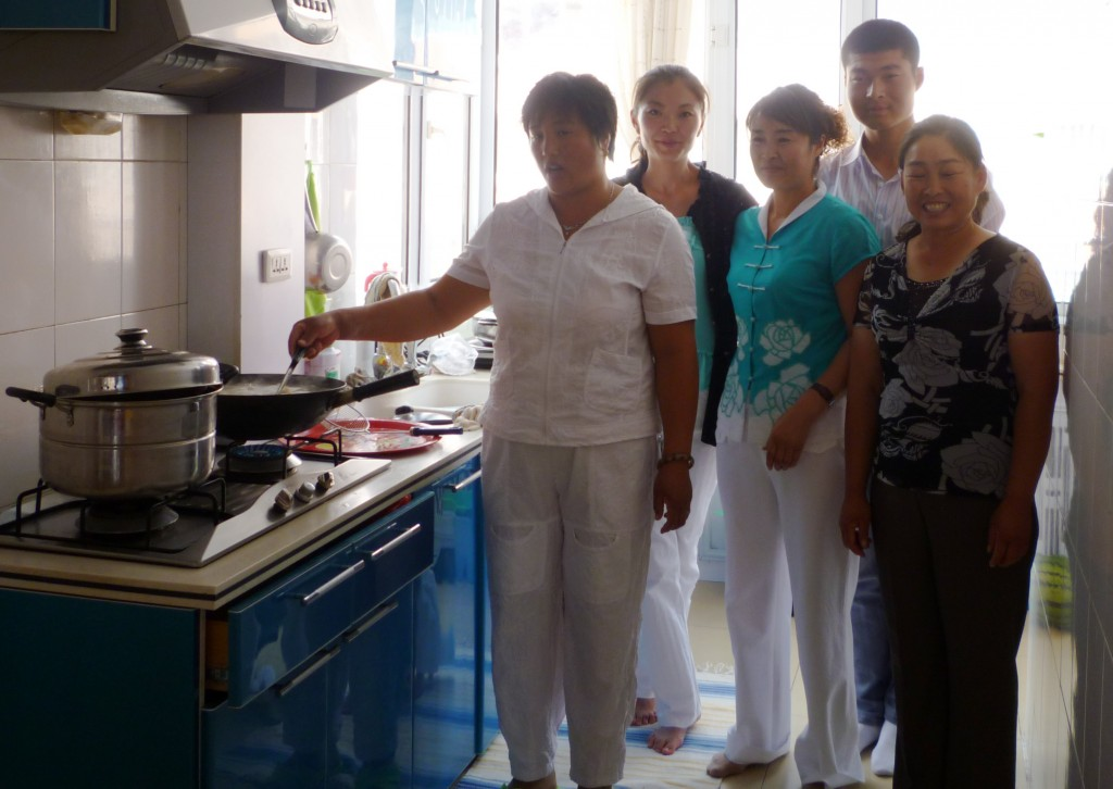 The kitchen crew at Jiao Jiao's house