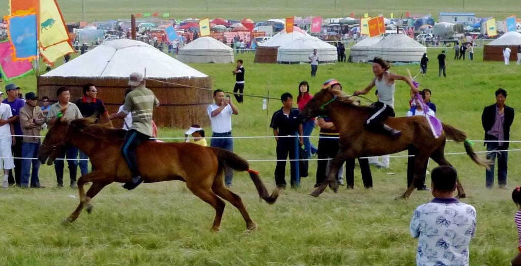 Mongolian horse race