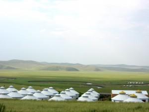 Yurts on the Grassland