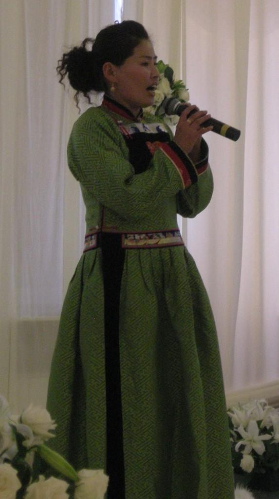 The Mongolian singer