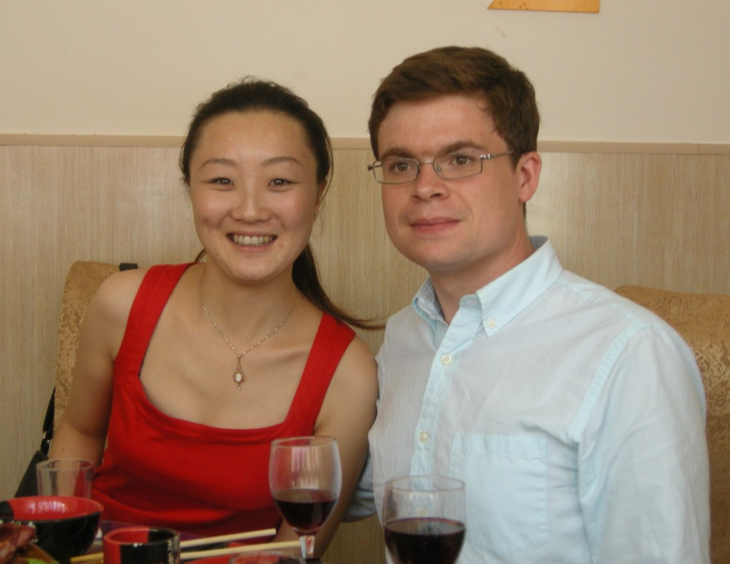 Jiao Jiao and Jimmy at lunch