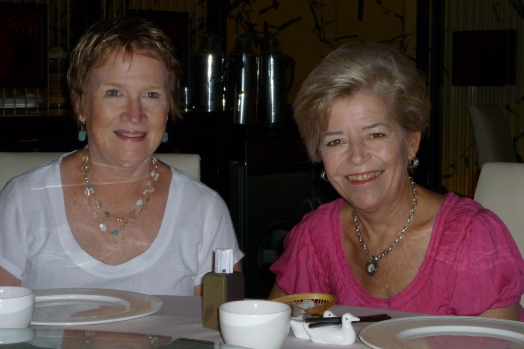 Cary and Anne at the restaurant in Beijing