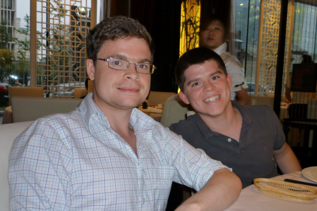 Jimmy and Peter at the Beijing restuarant