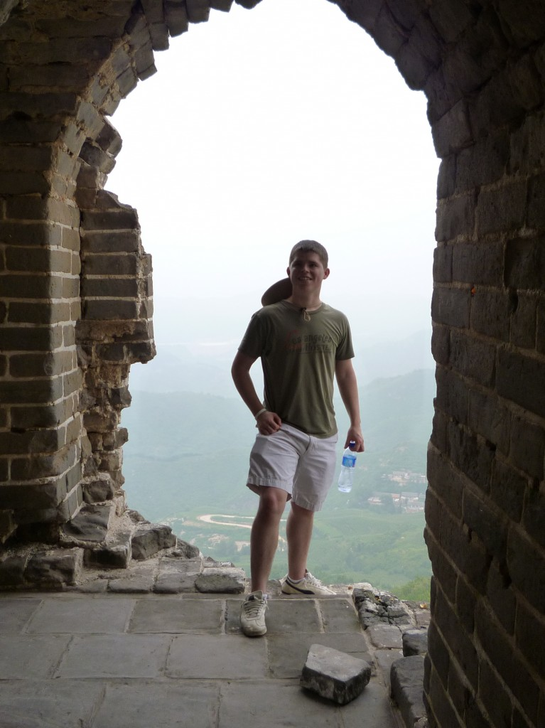 Peter on the Great Wall