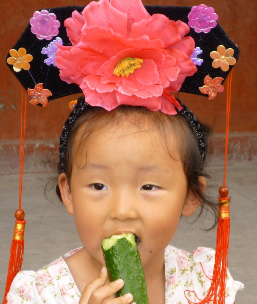 Cute girl at the Summer Palace