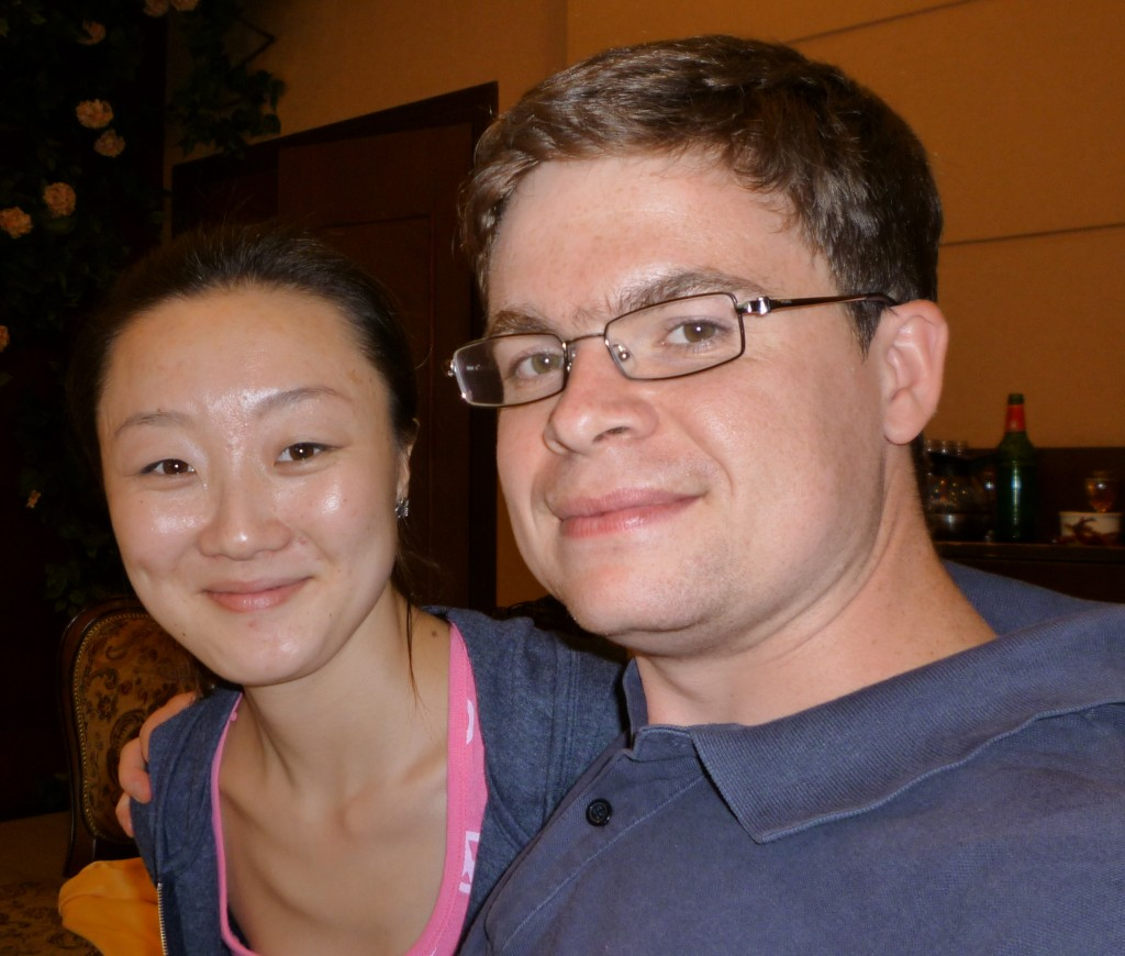 Jiao Jiao and Jimmy at the first luncheon in Hailaer.