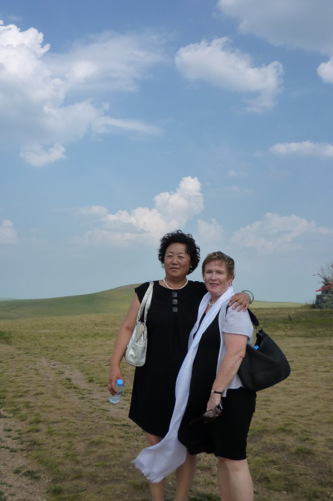 Mrs. Bai and Anne on the grass lands