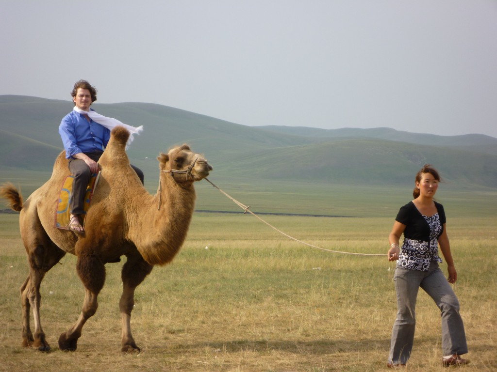 Tom on a camel