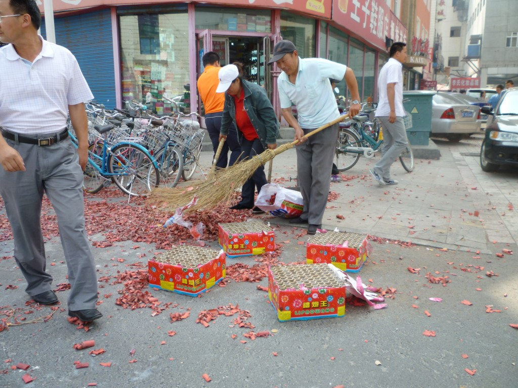Aftermath of the fire crackers