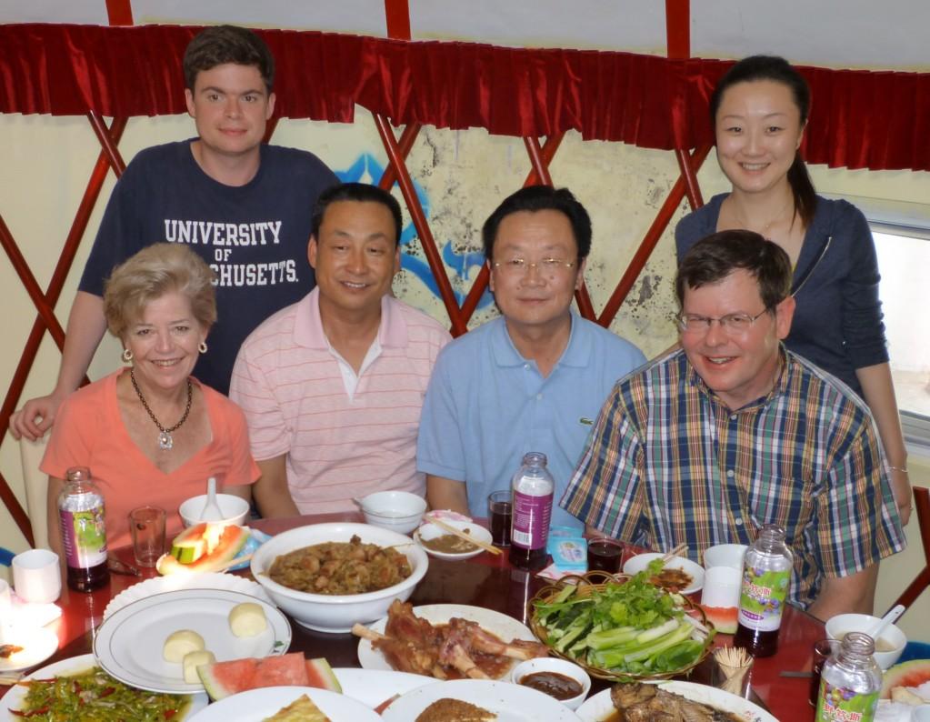 Jimmy, Jiao Jiao, Cary, our host the police chief, Mr. Bai and Charlie